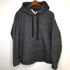 J Crew Oversized Fleece Hoodie B1477 Gray Sz Small